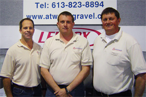 Owners and partners of Atwood Gravel Heating and Air Conditioning:  Dan Atwood, Roland Gravel, and Maurice Gravel.